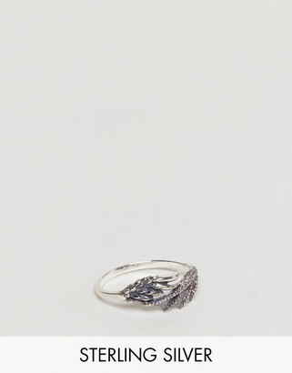 Sterling Silver Ring With Dragon Wing Design