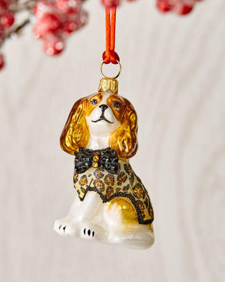 Joy To The World Collectibles Cavalier King Charles Blenheim in Leopard Coat Ornament