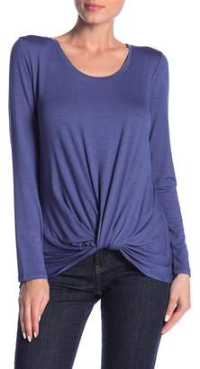 Socialite Long Sleeve Front Knot Tee