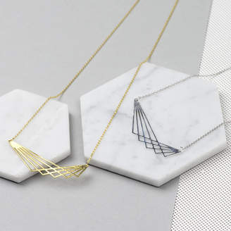 Nell Little Geometric Lines Necklace