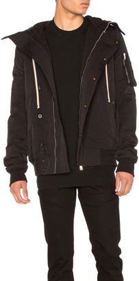 DRKSHDW by Rick Owens Short Hooded Bomber Jacket $1,903 thestylecure.com
