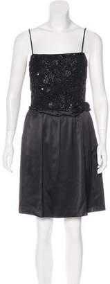 Emporio Armani Embellished Silk Dress