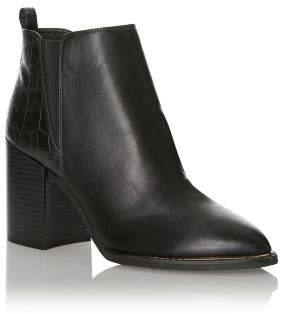 Next Womens Office Metal Detail Block Heel Boots