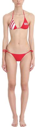 DSQUARED2 Red Logo Sport Bikini Beachwear