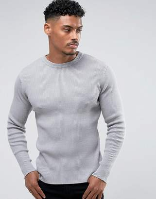 Brave Soul Ribbed Muscle Fit Sweater