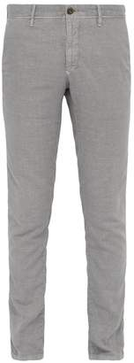 Incotex Slim Leg Cotton Blend Chinos - Mens - Grey