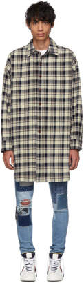 Faith Connexion Beige and Black Check Over Shirt