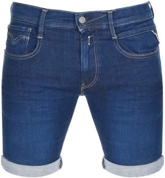 Replay Anbass Denim Shorts Blue