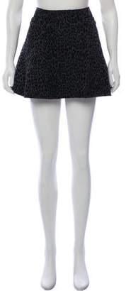 Thakoon Textured Animal Print Mini Skirt