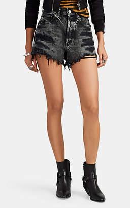 Moussy VINTAGE Women's Hamilton Distressed Denim Shorts - Black