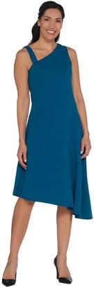 Halston H By H by Regular One-Shoulder Asymmetric Hem Midi Dress