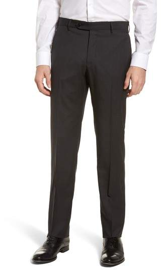 Parker Flat Front Pindot Wool Trousers