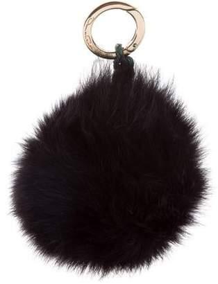 Oscar de la Renta Fox Fur Pom-Pom Keychain