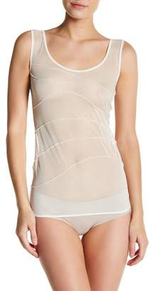 Wolford Mesh Pintuck Pleat Tank Top