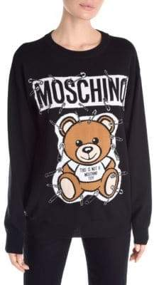 Moschino Long Sleeve Bear Pullover