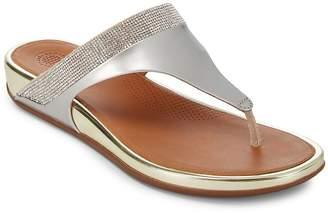 FitFlop Women's Embellished Slip-On Wedge Sandals
