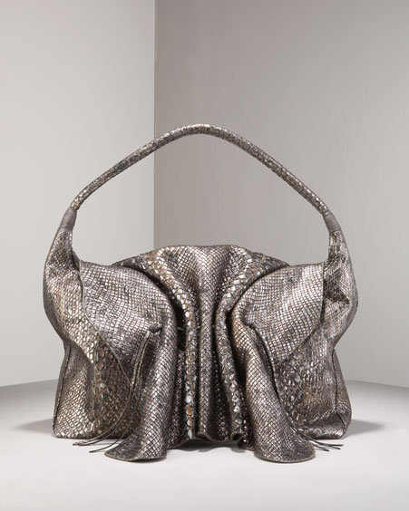 Carlos Falchi Anaconda Buffalo Shoulder Bag