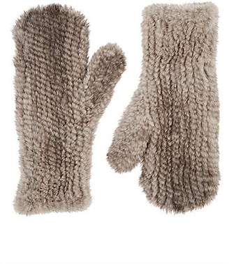 2ef5b9e4e Barneys New York Women's Knitted Mink Fur Mittens - Neutral