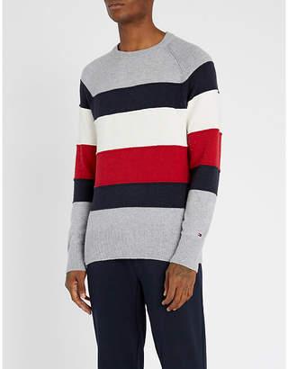 Tommy Hilfiger Striped cotton-blend jumper