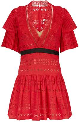 Self-Portrait Broderie Anglaise Lace Dress