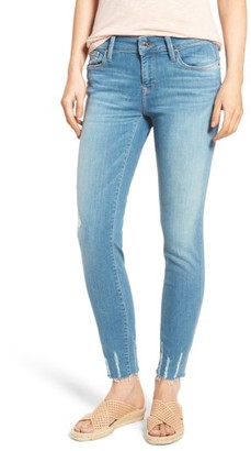 Women's Mavi Jeans Adriana Frayed Skinny Ankle Jeans $118 thestylecure.com