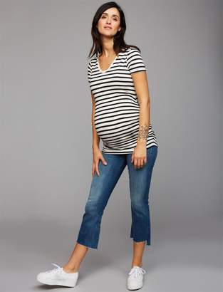 Mother Secret Fit Belly Insider Crop Step Fray Maternity Jeans- Not Rough Enough