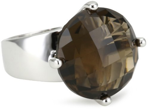ELLE Jewelry Sterling Silver Smoky Quartz Ring