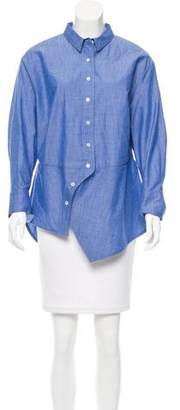Roberta Furlanetto Asymmetrical Button-Up Top w/ Tags