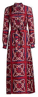 Valentino Women's Bandana-Print Silk Shirtdress