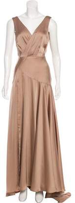 Fame & Partners Pleated Evening Gown