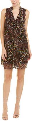 BCBGMAXAZRIA Ruffle Shift Dress
