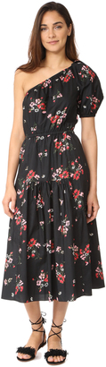 Rebecca Taylor One Shoulder Marguerite Pop Dress $495 thestylecure.com