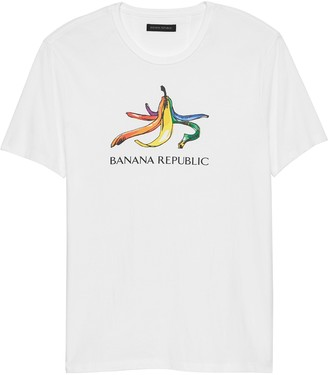 Banana Republic Pride 2019 Rainbow Banana T-Shirt (Men's Sizes)