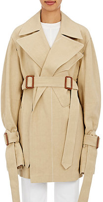 Calvin Klein Women's Kenneth Cotton-Blend Mackintosh $2,695 thestylecure.com