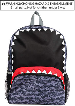 Fab Little & Big Boys Camo Shark Backpack
