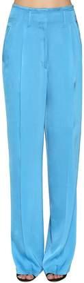 Etro Wide Leg Satin Pants