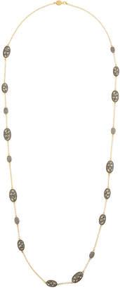 Freida Rothman Rose Dor Pebbled Station Necklace