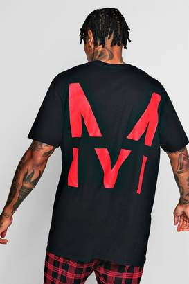 boohoo Large MAN Back Print Oversized T-Shirt