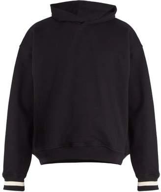 Fear Of God - Striped Cuff Cotton Hooded Sweatshirt - Mens - Black