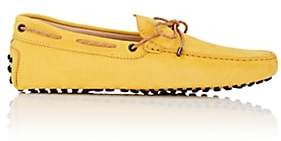 Tod's MEN'S BRAIDED-TIE NUBUCK DRIVERS-YELLOW SIZE 6 M
