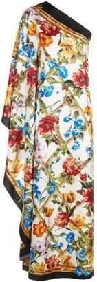 Dolce & Gabbana One Shoulder Silk Dress