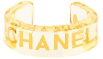 Chanel Logo Acrylic Cuff