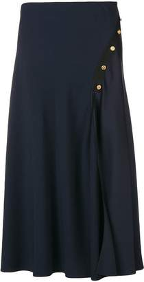 Versace button-embellished pleated skirt