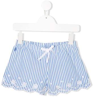 Ralph Lauren striped broderie anglaise shorts