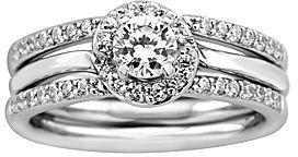 Brilliance+ Pure Brilliance by A. Jaffe 3/4 CT. T.W. Diamond Bridal Set