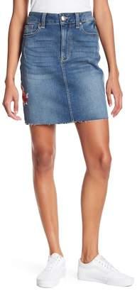 Seven7 Blue Jean Floral Print Skirt