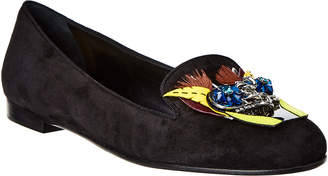 Christian Dior Embellished Suede Loafer