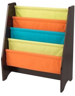Kid Kraft Sling Bookshelf - Brights & Espresso