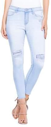 Liverpool Distressed Ankle Skinny Jeans in Sunpeak