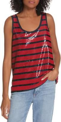 Polo Ralph Lauren Stripe Sequin Tank Top